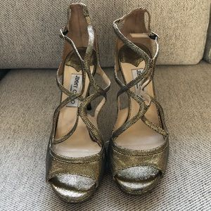 Authentic Jimmy Choo Lame Glitter Lang Stiletto